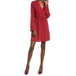 Lily surplice dress with sleeves